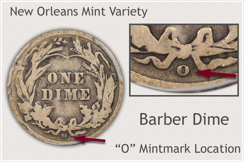 New Orleans Mint Barber Dime