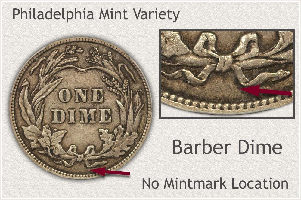 Philadelphia Mint Barber Dime