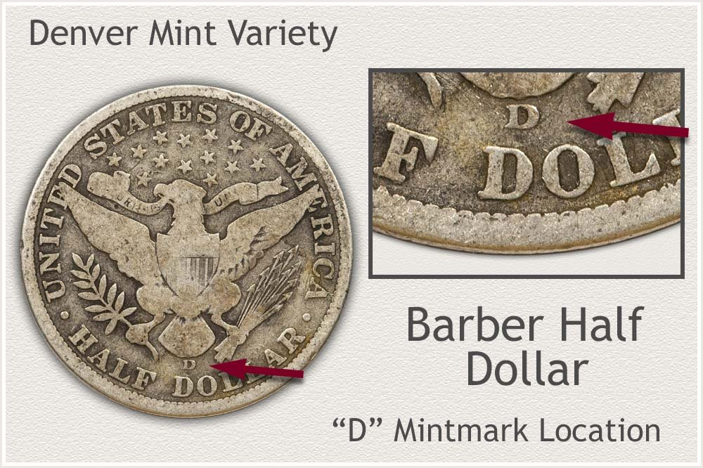 Denver Mint Barber Half Dollar