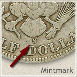 Barber Half Dollar Mintmark Location