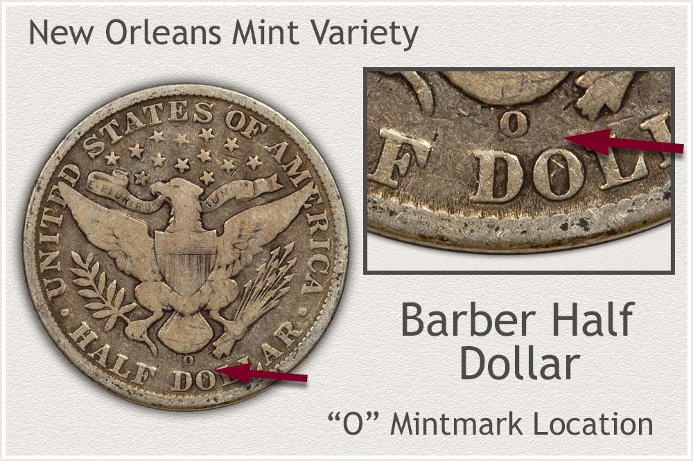 New Orleans Mint Barber Half Dollar