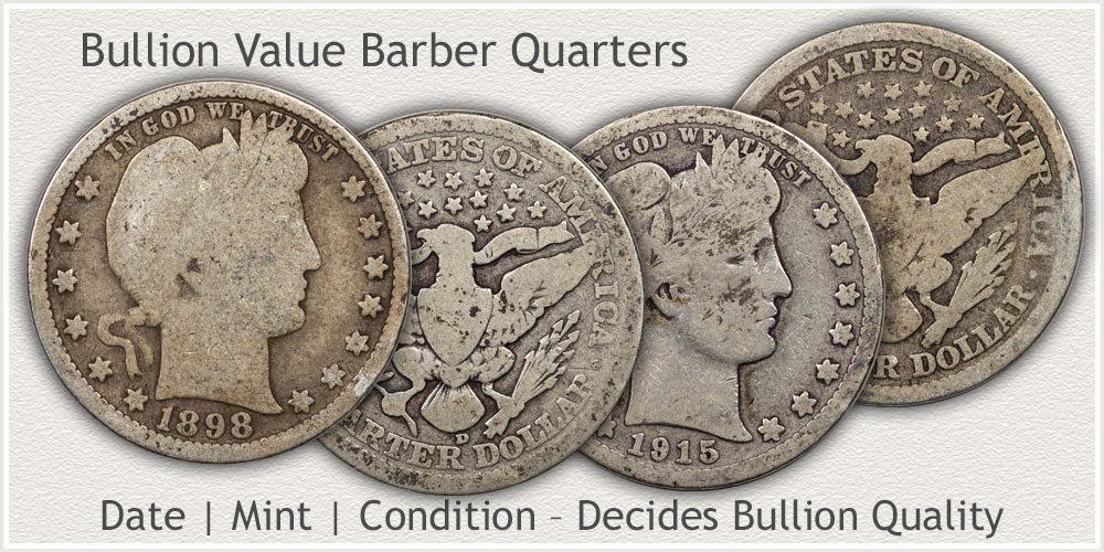 Barber Quarter Bullion Condition