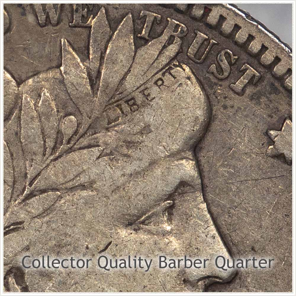 Collector Quality Barber Quarter