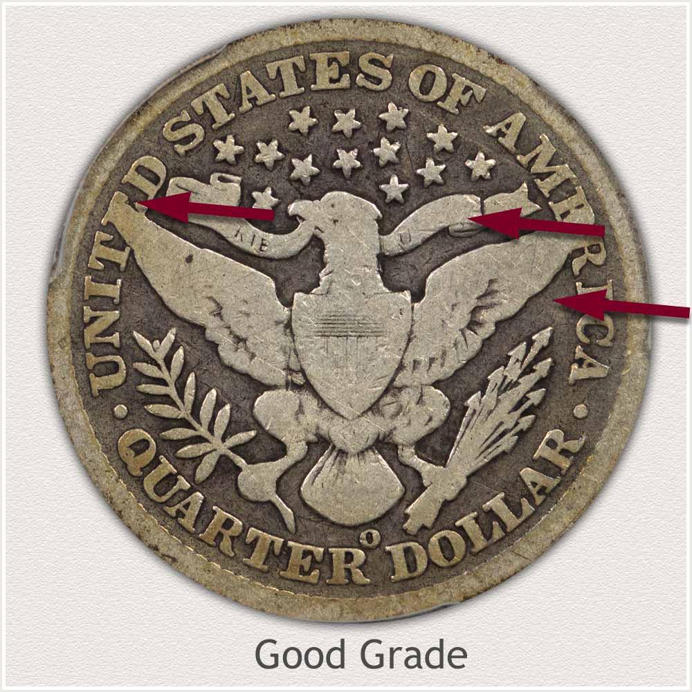 Reverse View: Good Grade Barber Quarter