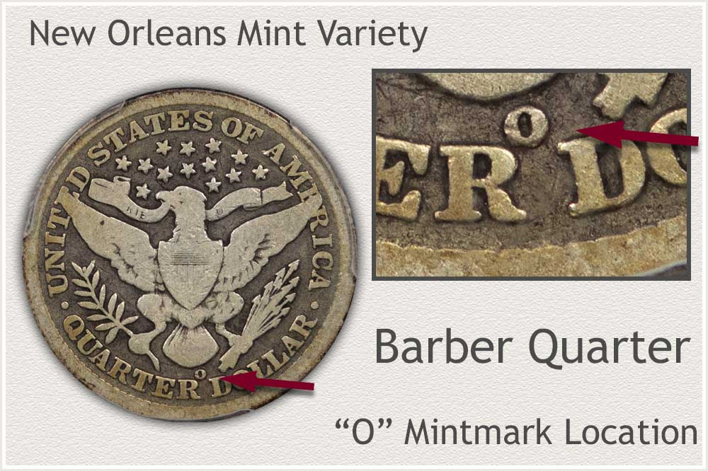 New Orleans Mint Barber Quarter