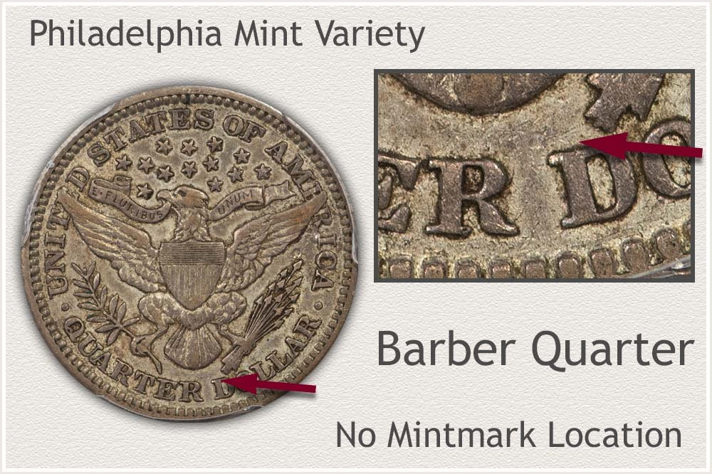 Philadelphia Mint Barber Quarter
