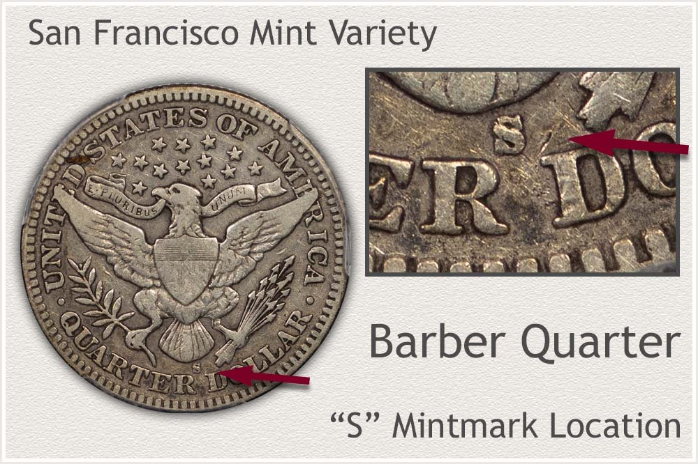 San Francisco Mint Barber Quarter