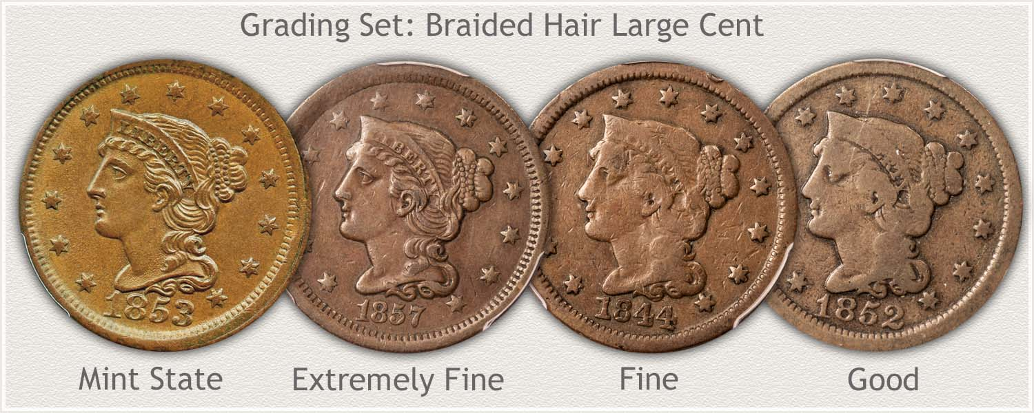 Grading Set of Braided Hair Large Cents