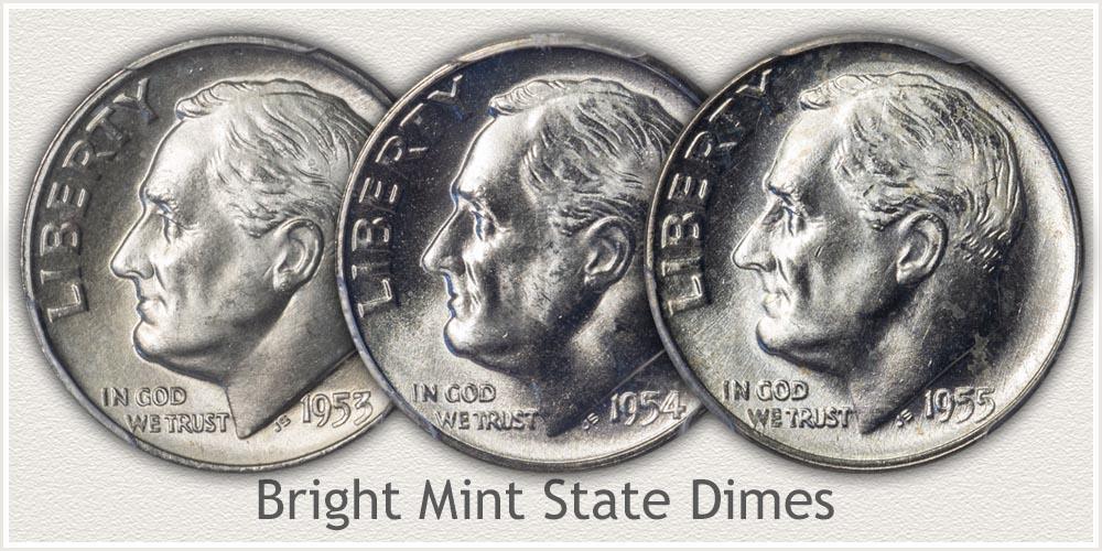 Mint State Grade Roosevelt Dimes