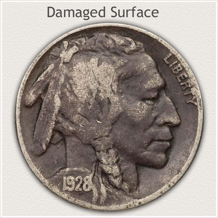 Damaged Buffalo Nickel