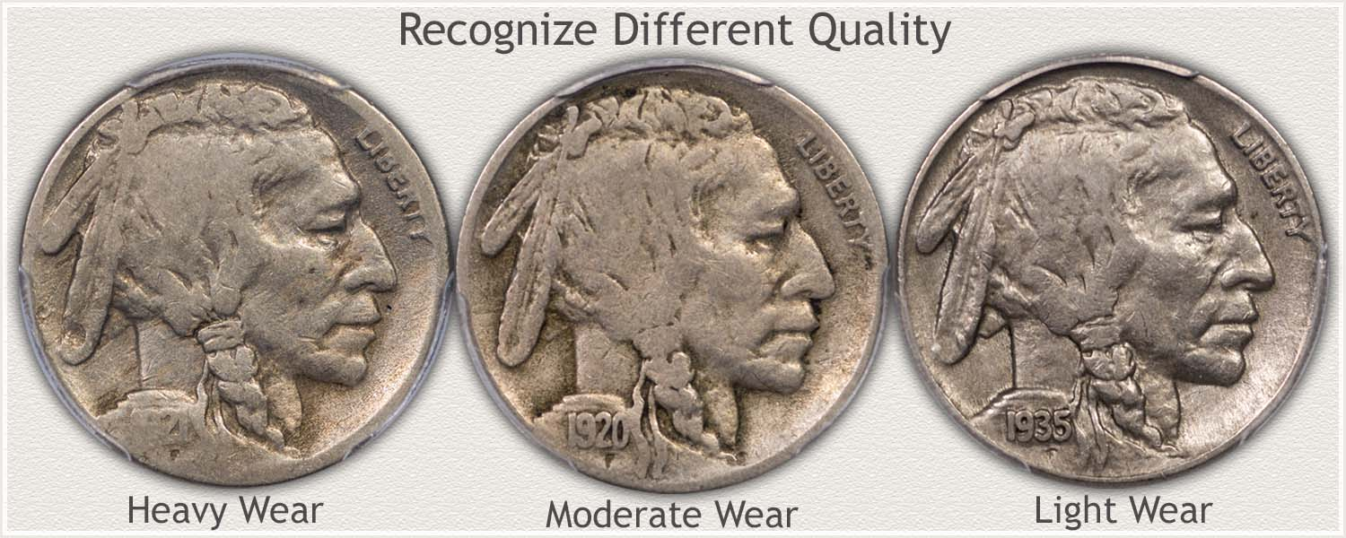 Buffalo Nickels in Good, Fine, and Extremely Fine Grades