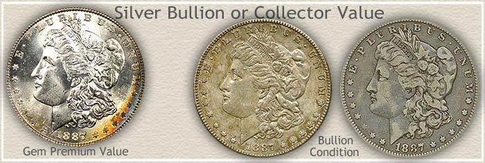 Bullion or Collector 1887 Morgan Silver Dollar Value
