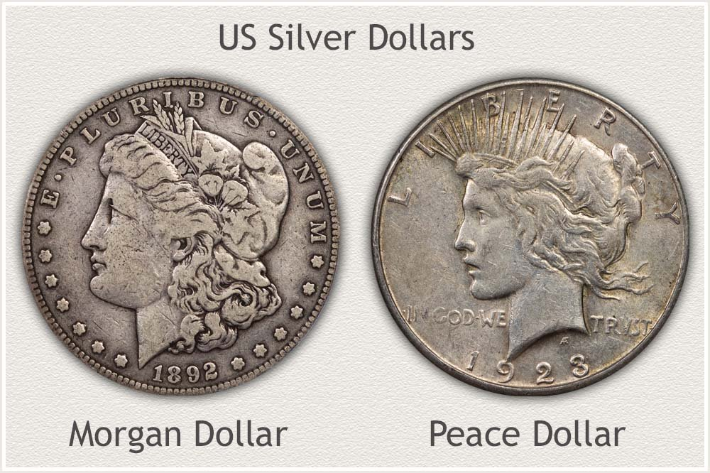 US Silver Dollar Bullion Examples