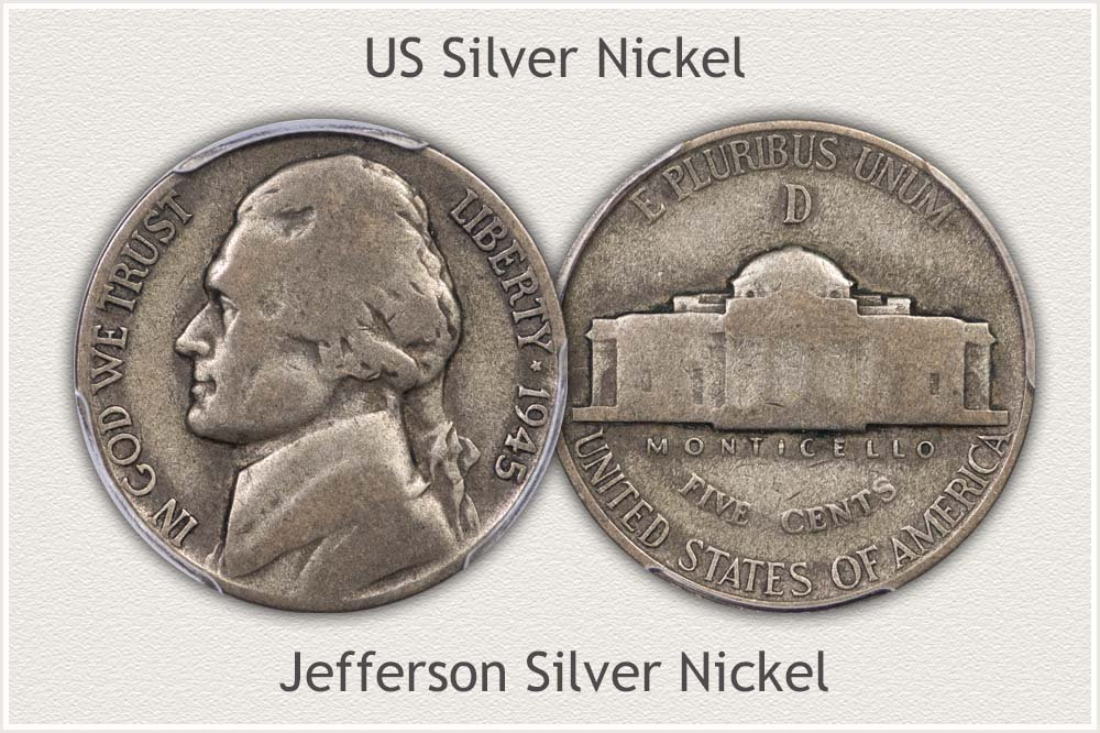 US Silver Nickel Bullion Examples