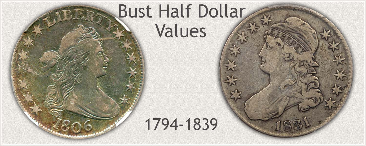 Bust Half Dollars Representing High Value
