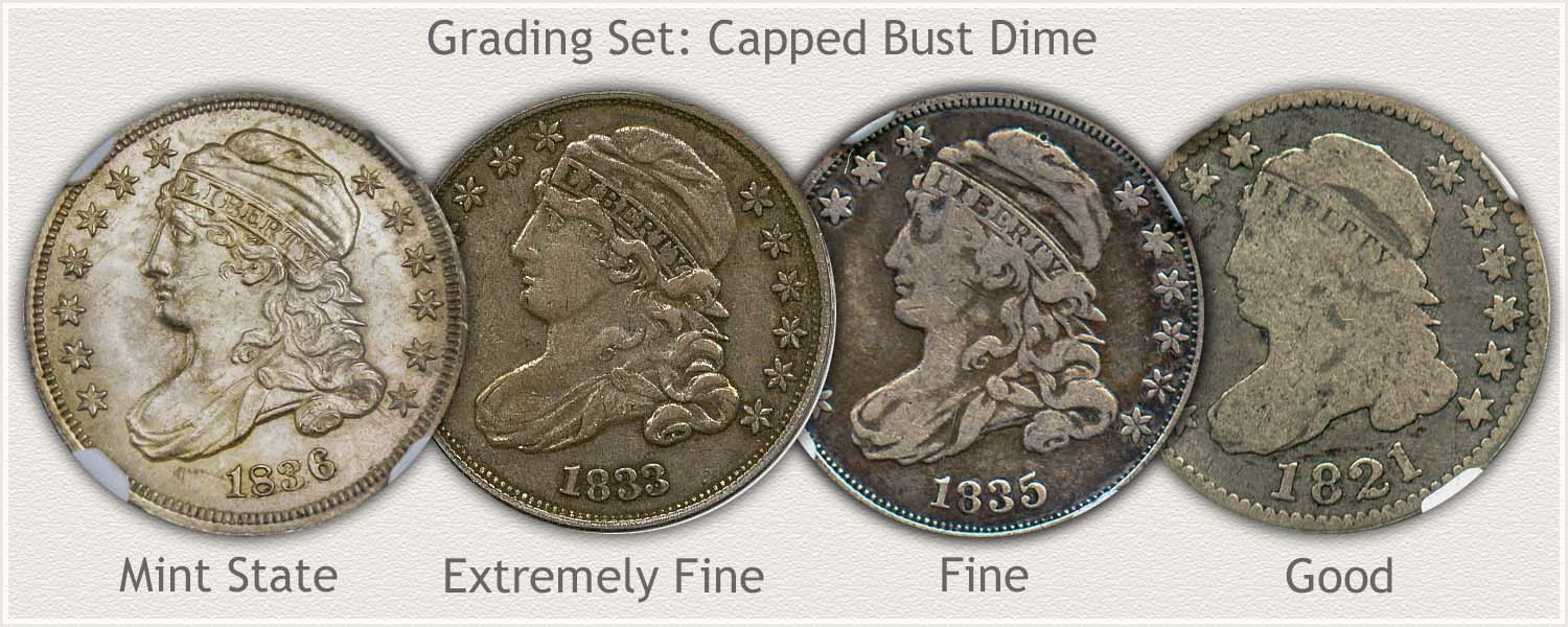 Grading Set of Capped Bust Dimes