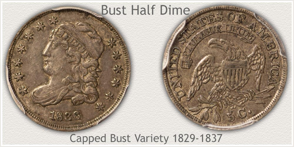 Obverse and Reverse Capped Bust Half Dime