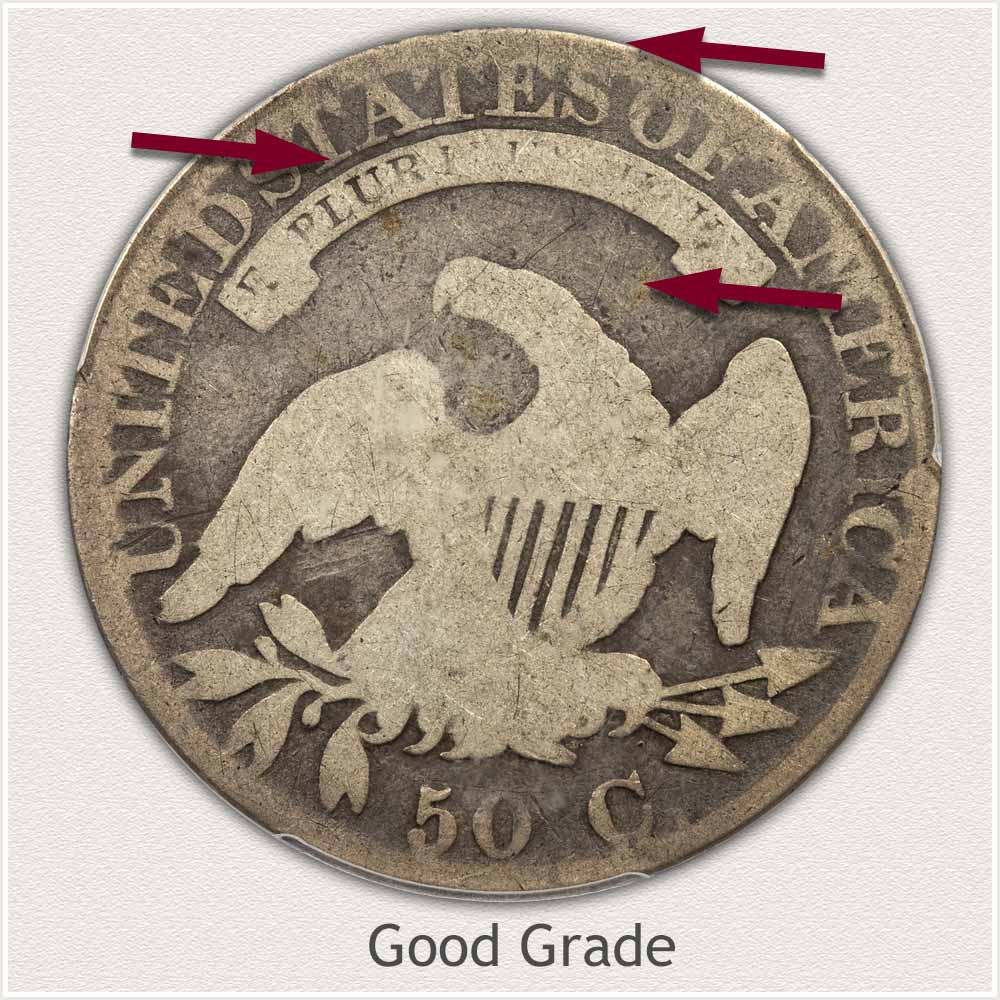 Reverse View: Good Grade Capped Bust Half Dollar