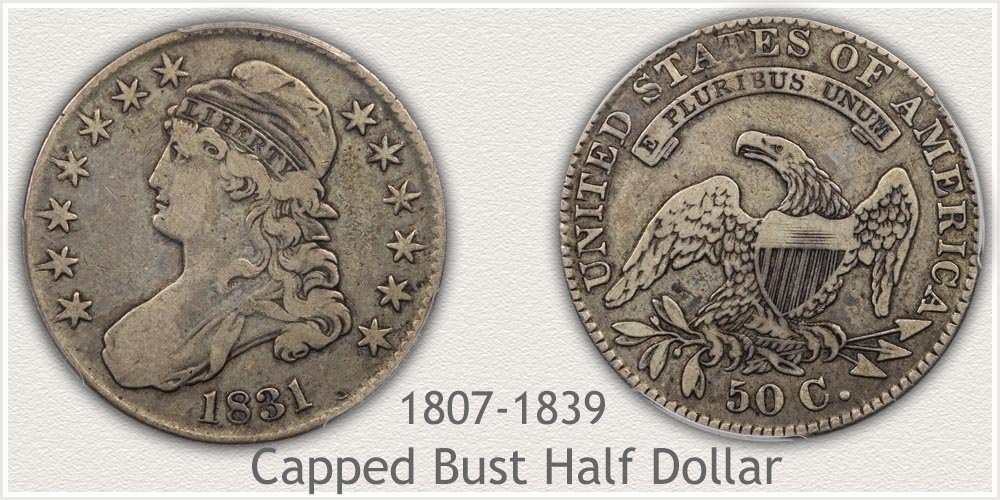 Capped Bust Half Dollar Variety Example