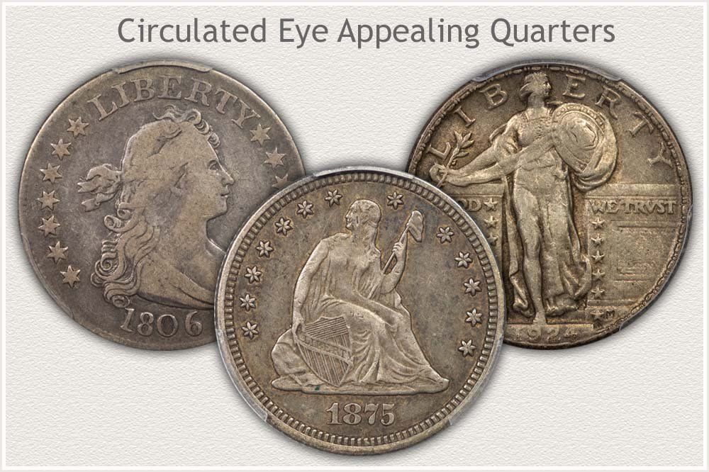Example Quarters in Circulated Condition With Eye Appeal