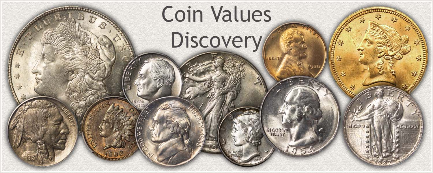 U.S. Coins Representing Various Coin Series
