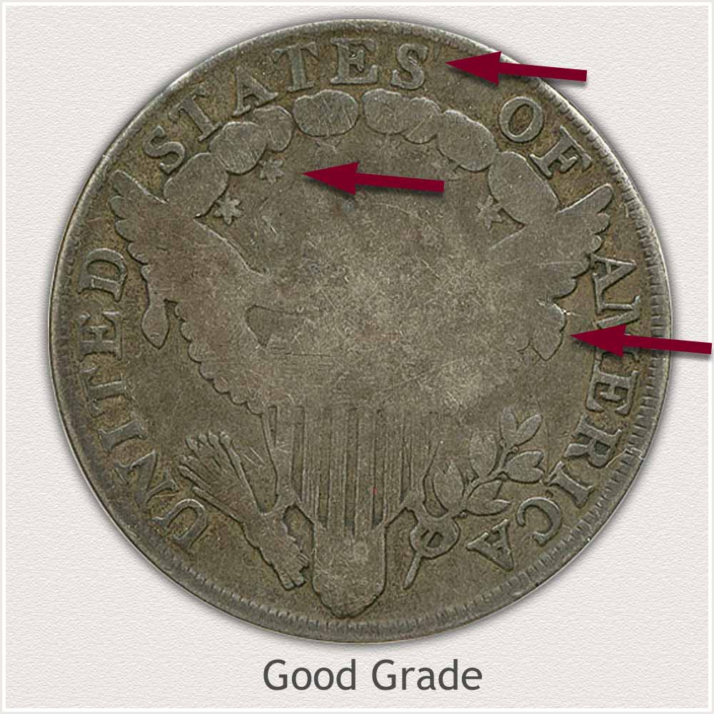 Reverse View: Good Grade Draped Bust Silver Dollar