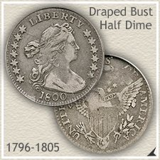 Draped Bust Half Dime Type