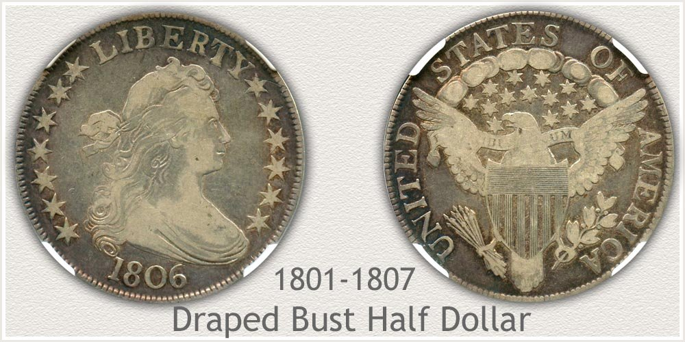 Draped Bust Half Dollar Variety Example
