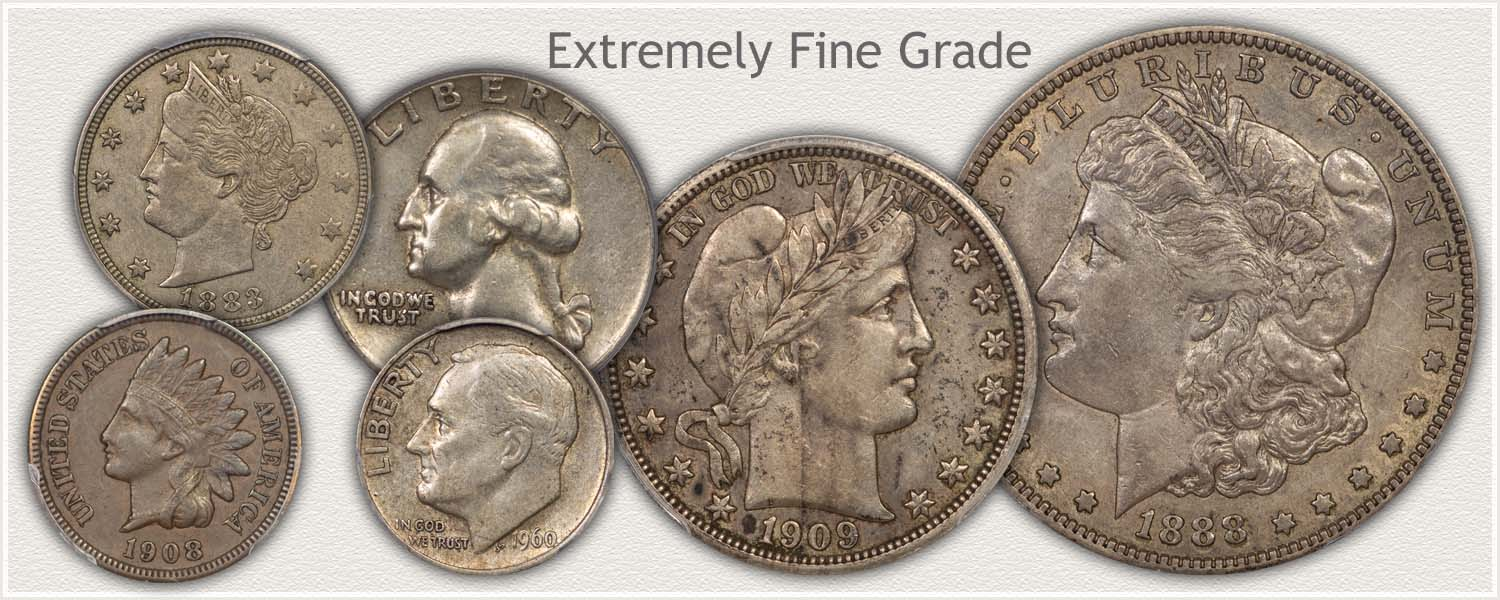 Extremely Fine Grade Coins