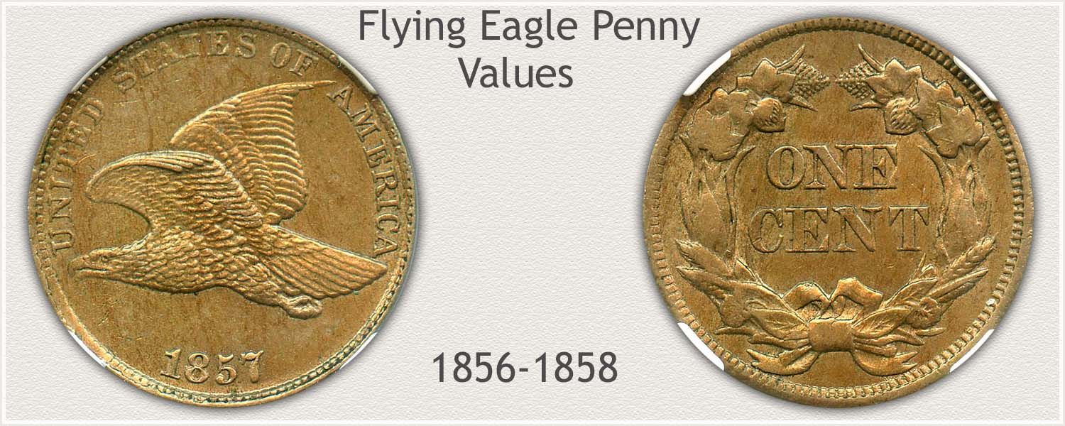 Obverse and Reverse of Flying Eagle Cent