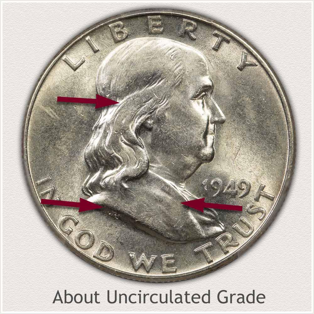 Franklin Half Dollar About Uncirculated Grade