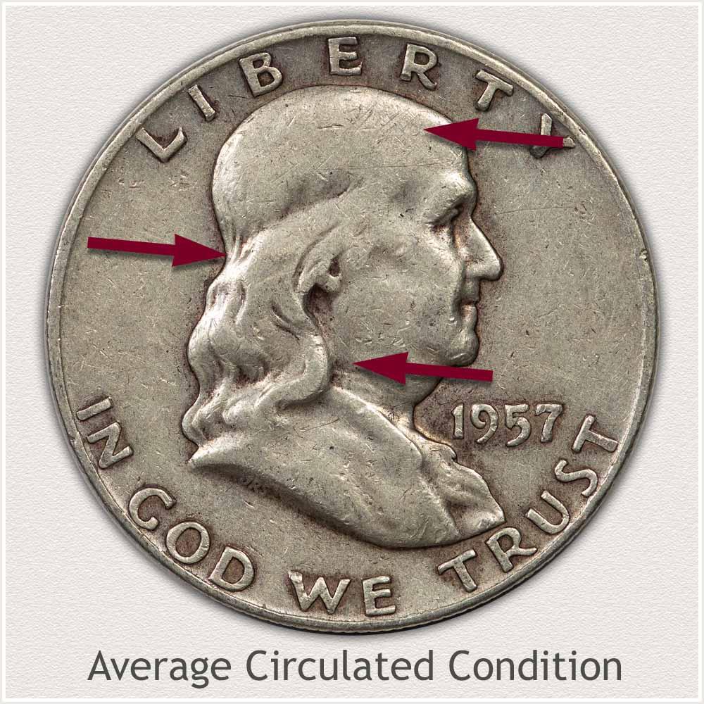 Franklin Half Dollar in Average Circulated Condition