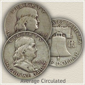 1950 Franklin Half Dollar Circulated Condition