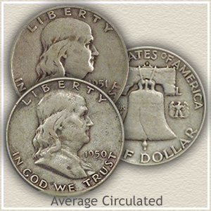 1951 Franklin Half Dollar Circulated Condition