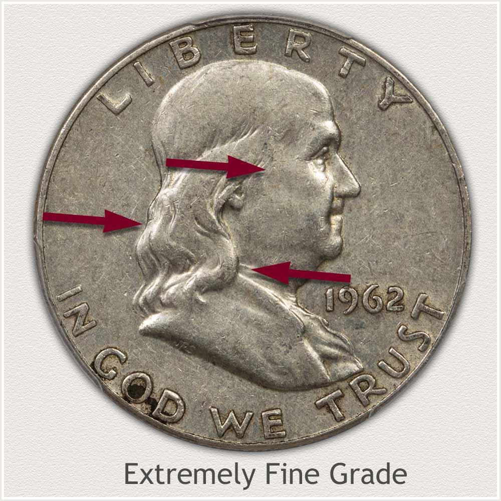 Extremely Fine Grade Franklin Half Dollar