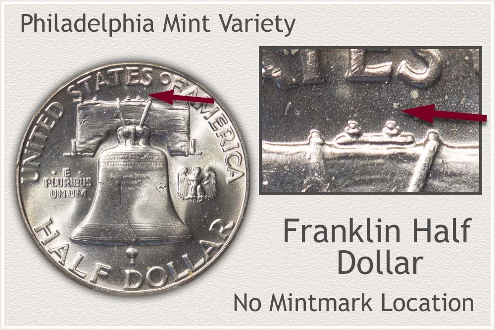 Franklin Half Dollar Struck at the Philadelphia Mint