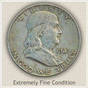 1952 Franklin Half Dollar Extremely Fine Condition