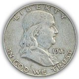 Franklin Half Dollar Extremely Fine Condition