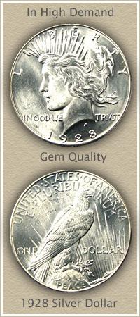 Rare 1928 Peace Silver Dollar