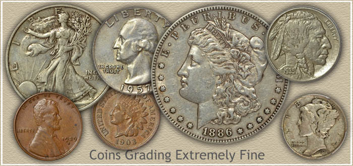 Coins Graded Extremely Fine Condition