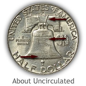 Grading Reverse About Uncirculated Franklin Half Dollar
