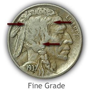 Grading Obverse Fine Buffalo Nickels