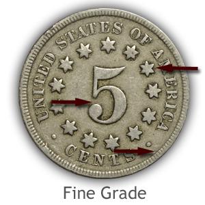 Grading Reverse Fine Condition Shield Nickels