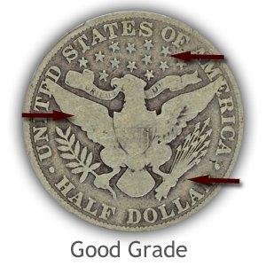 Grading Reverse Good Condition Barber Half Dollars