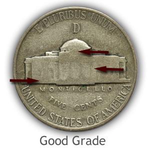 Grading Reverse Good Condition Jefferson Nickels