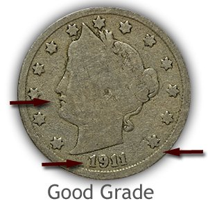 Grading Obverse Good Liberty Nickels