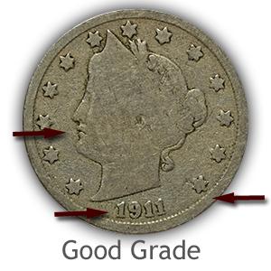 Grading Obverse Good Liberty Nickels