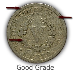 Grading Reverse Good Liberty Nickels