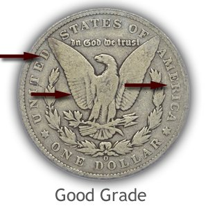 Grading Reverse Good Condition Morgan Silver Dollars