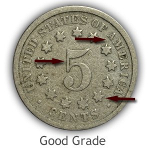 Grading Reverse Good Condition Shield Nickels